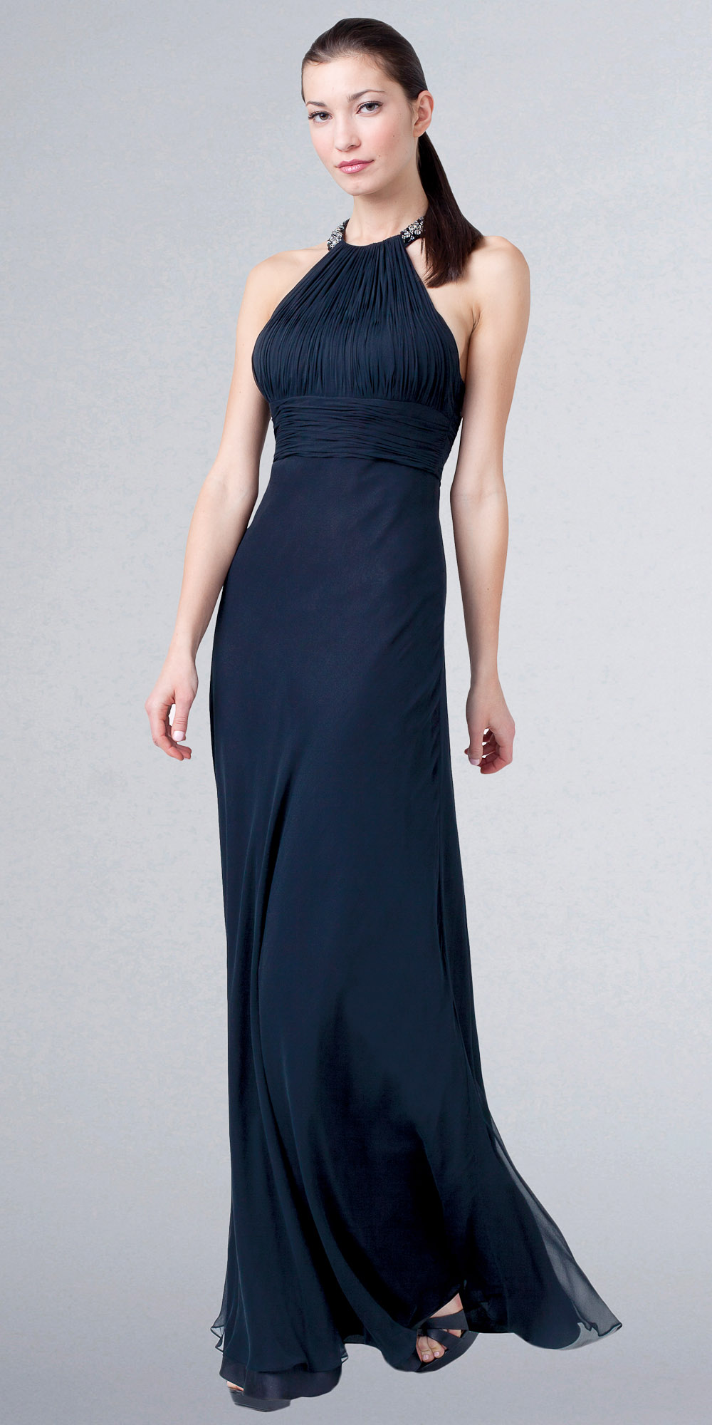 beaded-ruched-bodice-satin-chiffon-evening-dress